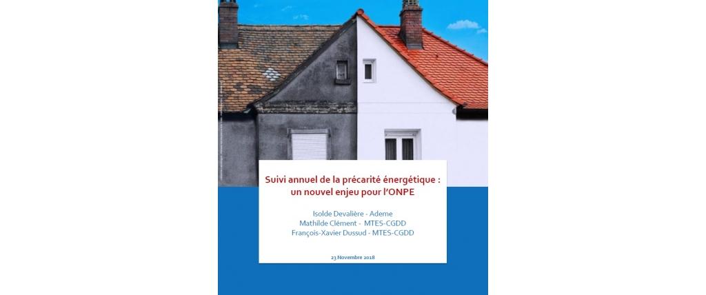 page couverture de la synhèse sur le suivi annuel de la précarité énergétique