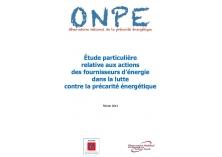 Etude particulière relative aux actions des fournisseurs d'énergie dans la luttre contre la précarité énergétique